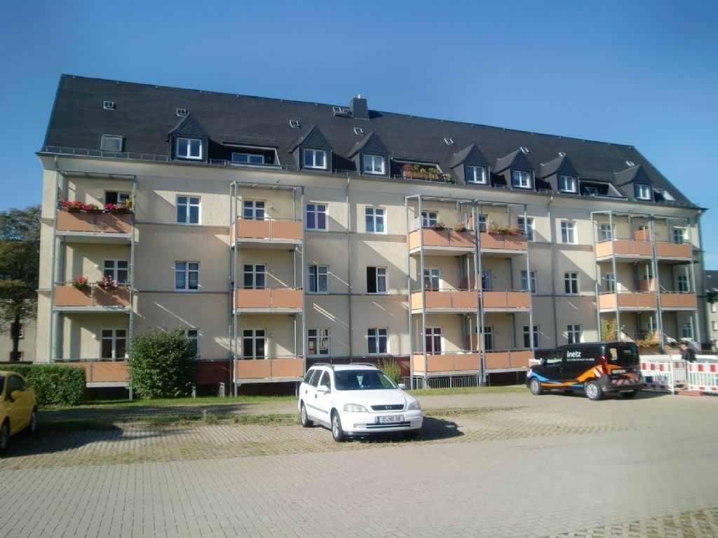 Rückansicht-Balkone